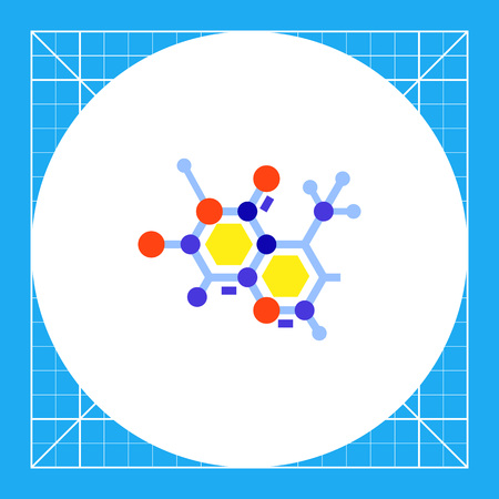 Molecular structure. Science, cell, atom, school, education. Science concept. Can be used for topics like science, education, biology, chemistry Illustration