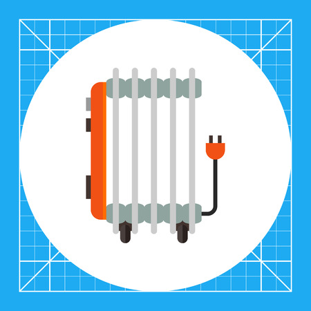 Multicolored vector icon of oil electric heater Illustration