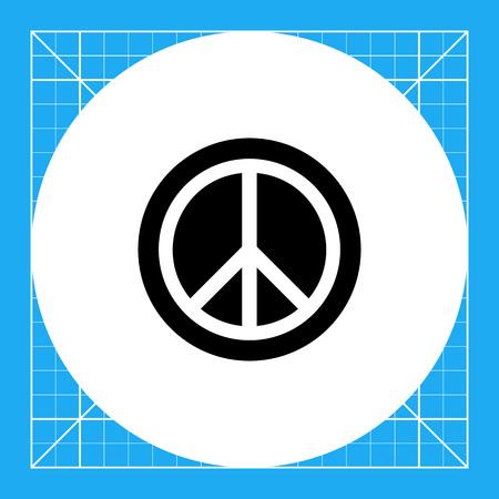 nonviolent: Monochrome vector simple icon of pacific sign