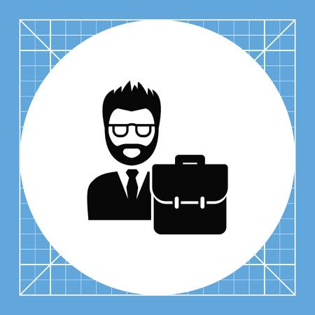 jurisprudencia: El hombre llevaba traje con maletín. Ley, el juicio, la defensa. concepto de abogado. Puede ser utilizado para temas como la jurisprudencia, la criminalidad, negocios.