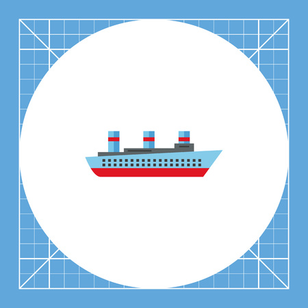 shipbuilding: Steamship. Ocean, passengers, old. Ship concept. Can be used for topics like technology, shipbuilding, tourism. Illustration