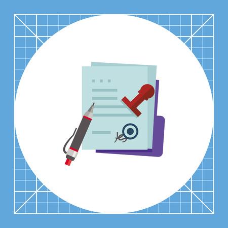 MOU memorando, la pluma y el sello. Papeles, acuerdo, reglamentos. concepto memorándum MOU. Puede ser utilizado para temas como negocio, el papeleo, la gestión.