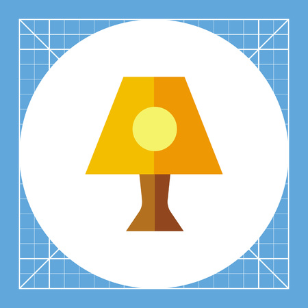 dim: Illustration of nightlight. Lamp, night time, interior design. Light concept. Can be used for topics like night time, light, appliance Illustration