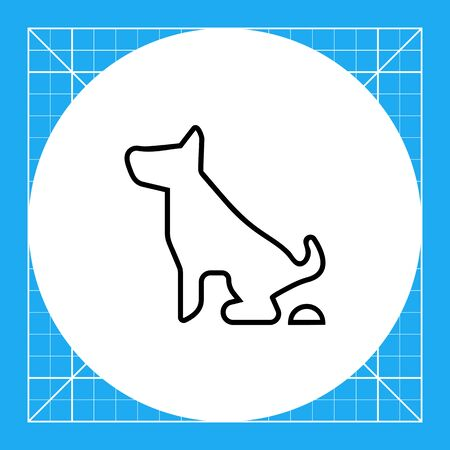 Icon of pooping dog sign