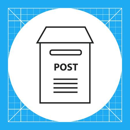 postbox: Postbox icon Illustration
