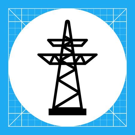 high voltage symbol: Icon of voltage pole