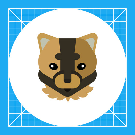 puma: Multicolored vector icon of brown puma head