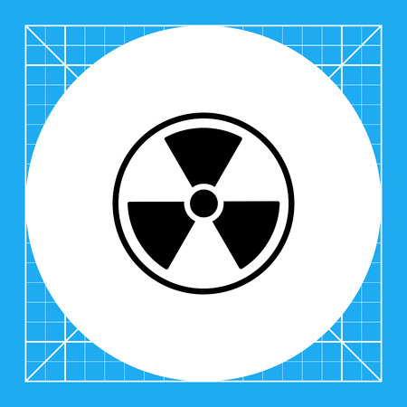 gamma radiation: Monochrome vector icon of international radiation hazard symbol