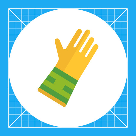 Icon of protective rubber glove