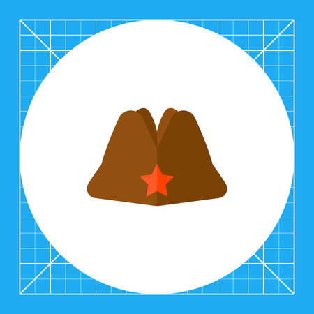 garrison: Russian military garrison cap with star. Uniform, army, soldier. Headwear concept. Can be used for topics like fashion, clothing, armed forces, marketing.