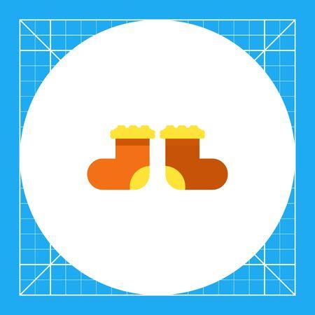 valenki: Multicolored flat icon of valenki, special Russian felt boots