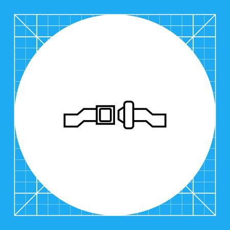 unlocked: Icon of unlocked safety belt