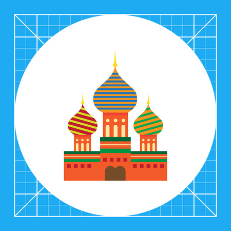 Multicolored vector icon of Saint Basil Cathedral