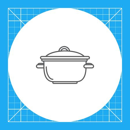 stewing: Icon of saucepan with cover