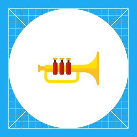 Multicolored vector icon of classic shiny trumpet
