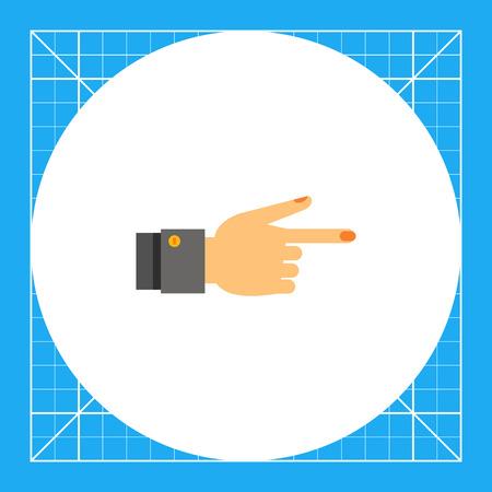 comunicacion no verbal: Mano señalando con el dedo índice. El mostrar, la dirección, no verbal. Señalando concepto. Puede ser utilizado para temas como gestos, la comunicación no verbal, la gestión. Vectores