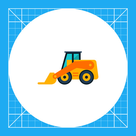 Multicolored vector icon of yellow skid loader Illustration