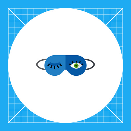 Sleeping mask with open and shut eye. Night, protection, face. Mask concept. Can be used for topics like accessories, health, healthcare.