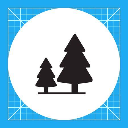 2 つのモミの木と木製看板のベクトルのアイコン 写真素材 - 67839692