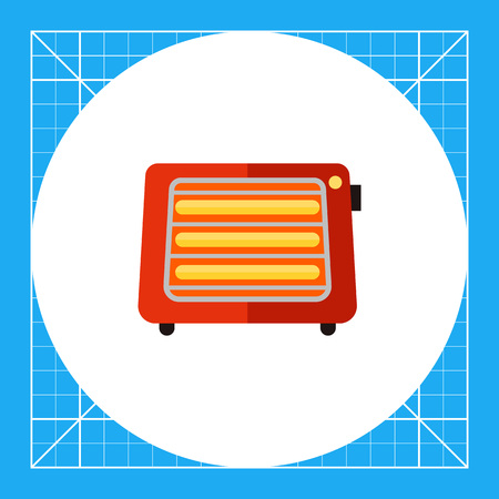 Vector flat icon of portable space heater with switch