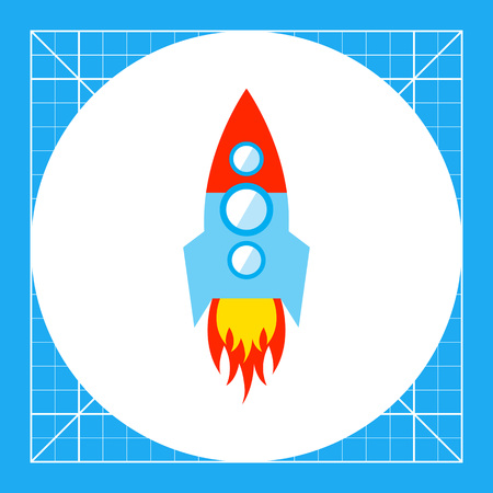 Space rocket icon Illustration