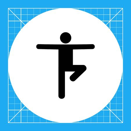 standing on one leg: Man standing on one leg with arms sideward. Balance, yoga pose, meditation. Balance concept. Can be used for topics like sport, yoga, meditation