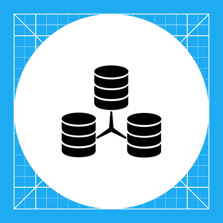 discs: Illustration of three connected stacks of discs. Database, storage, information, data, computer. Database concept. Can be used for topics like database, storage of information, technology