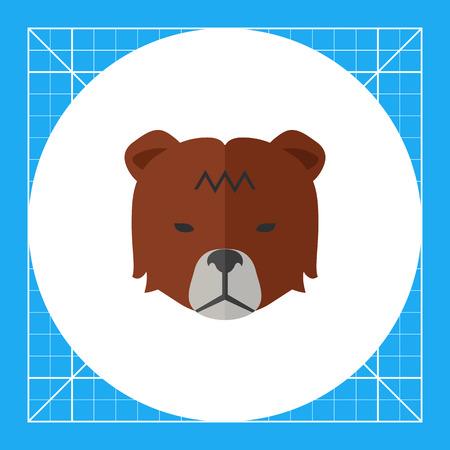 Icon of bears head as stock market trend Illustration