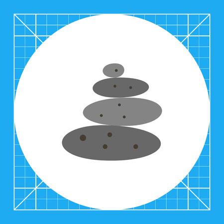 Multicolored vector grey stones for spa stone therapy Illustration