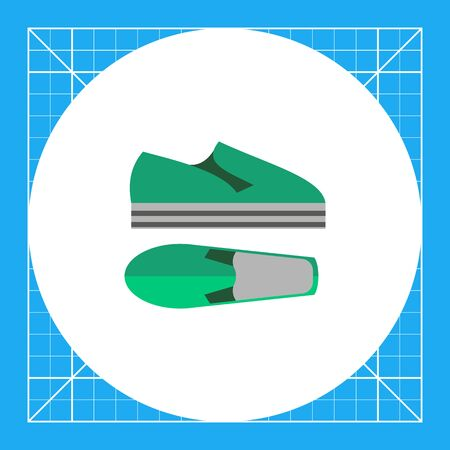 footwear: Modern summer shoes. Foot, style, unisex. Summer footwear concept. Can be used for topics like summer, vacation, footwear.