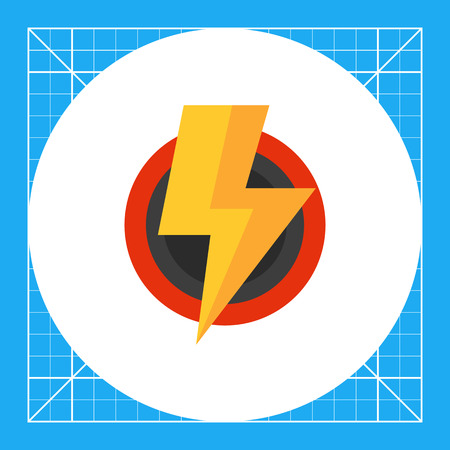 voltage sign: Multicolored vector icon of stylized voltage sign