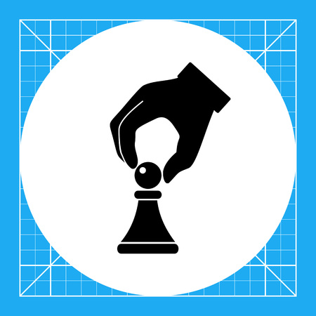 tactics: Hand with chess piece. Tactics, approach, success, strategy. Tactics concept. Can be used for topics like business, startup, strategy, success