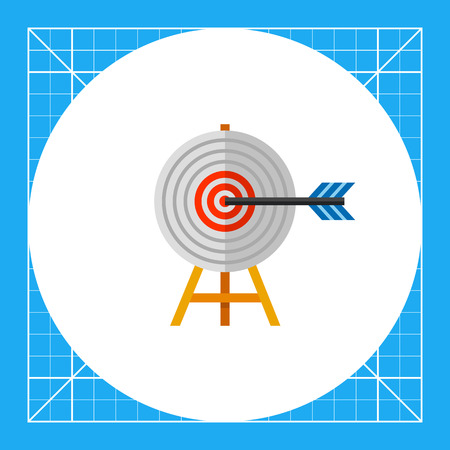 Target on wooden stand with arrow. Challenge, success, goal. Targeting concept. Can be used for topics like business, advertisement, marketing.