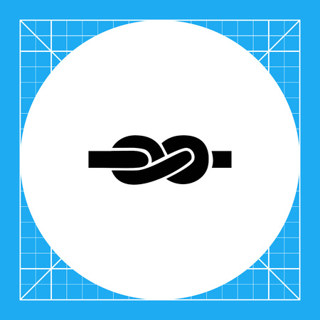 tied: Vector icon of tied knot made of rope Illustration