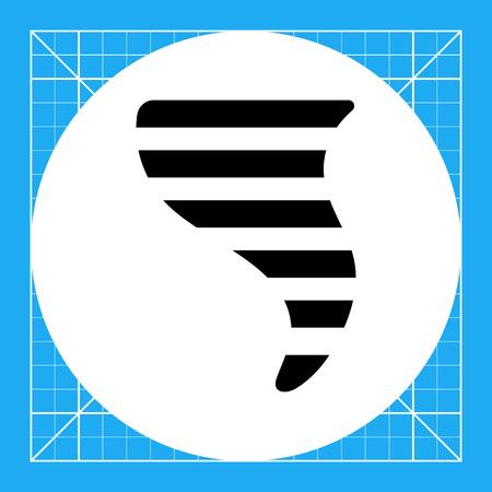 funnel: Icon of tornado funnel