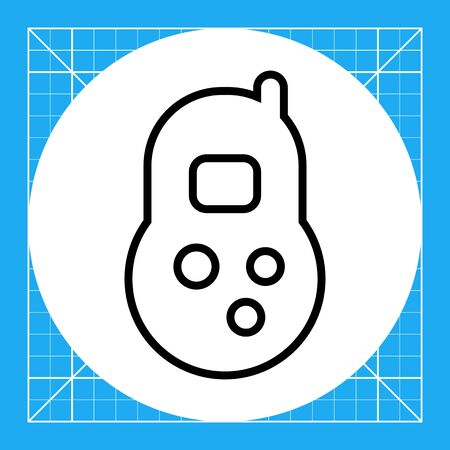 baby playing toy: Toy telephone icon