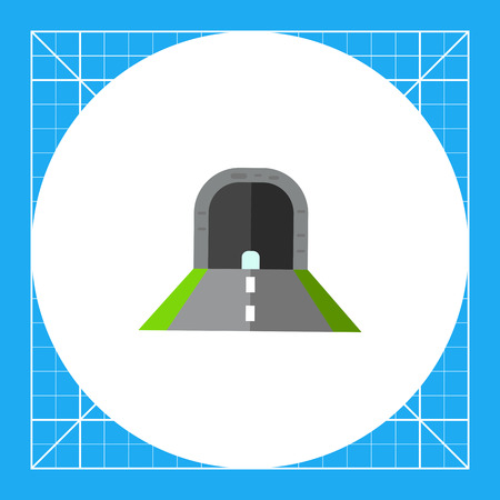 obstruction: Illustration of tunnel with road. Construction, traffic, route, diving. Road concept. Can be used for topics like traffic, construction, road, itinerary