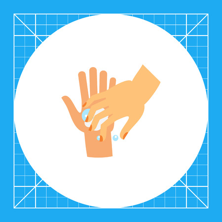 Hand washing fingernails. Clean, soap, habit. Washing hands concept. Can be used for topics like hygiene, health, healthcare.