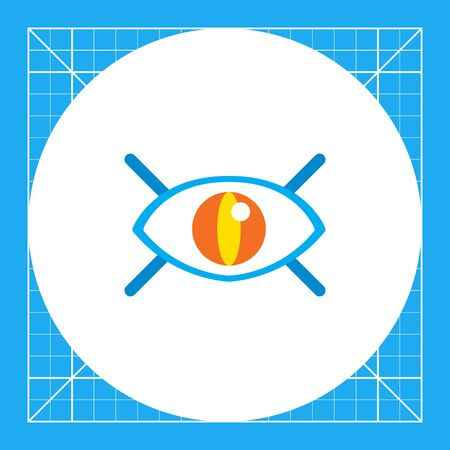 human eye: Icon of open human eye with lashes Illustration