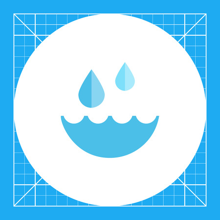 Water and water drops Illustration