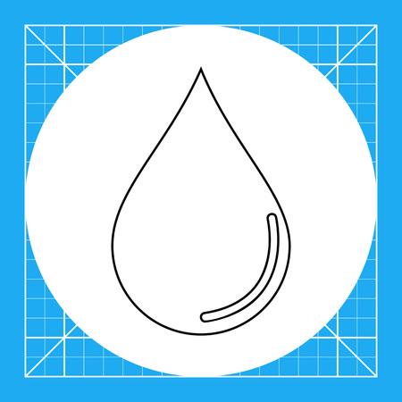 rain drop: Illustration of water drop. Rain, liquid, wet. Water concept. Can be used for topics like water, liquid, rain, weather