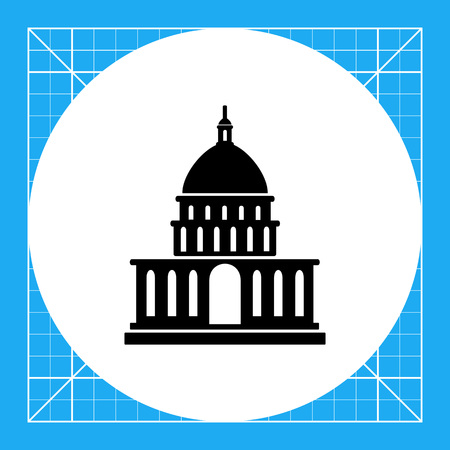 vector icon of white house silhouette usa president residence