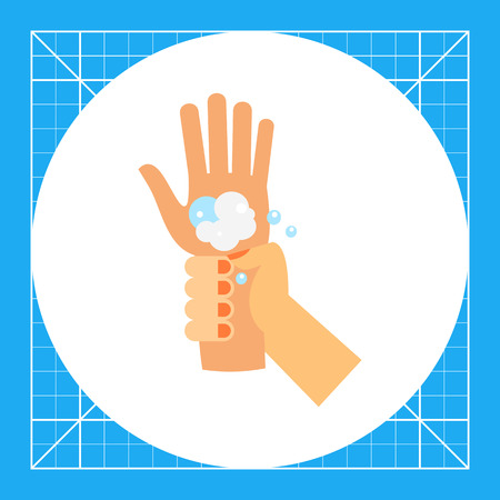 habit: Hand washing wrist. Clean, soap, habit. Washing hands concept. Can be used for topics like hygiene, health, healthcare.