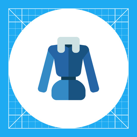Multicolored vector icon of bluewoman down jacket