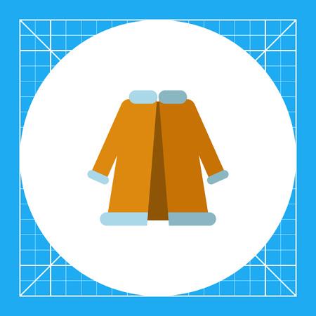 Multicolored vector icon of blue woman fur coat Illustration