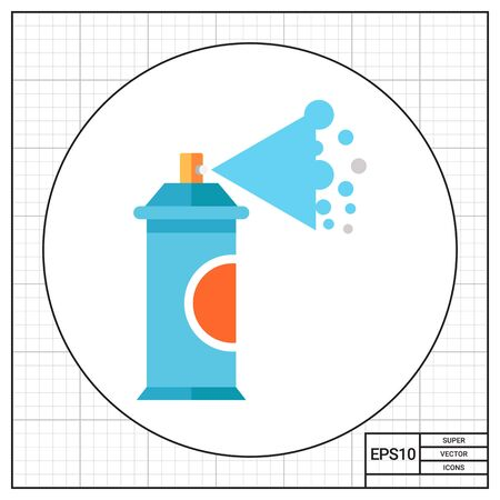 spraying: Aerosol spray can spraying paint. Graffiti, city, creative. Drawing concept. Can be used for topics like art, design, marketing.