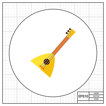 balalaika: Multicolored vector icon of balalaika, special Russian musical instrument