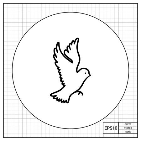 beine spreizen: Bird icon Illustration