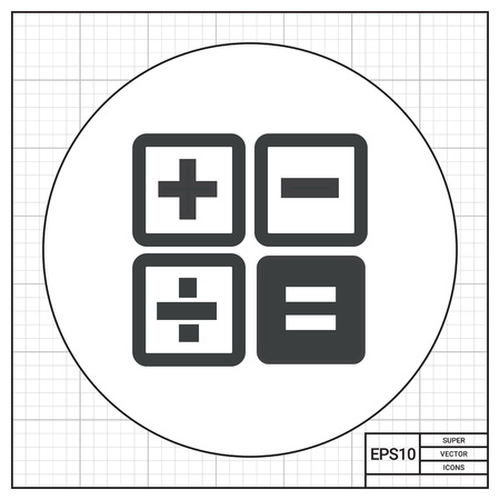 Calculator buttons icon