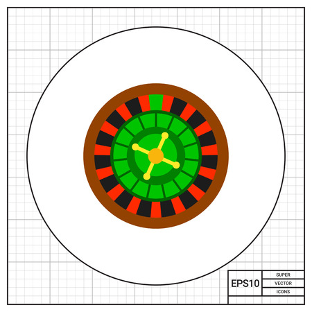 betting: Casino roulette wheel. Club, luck, betting. Casino concept. Can be used for topics like gambling, marketing, nightlife.